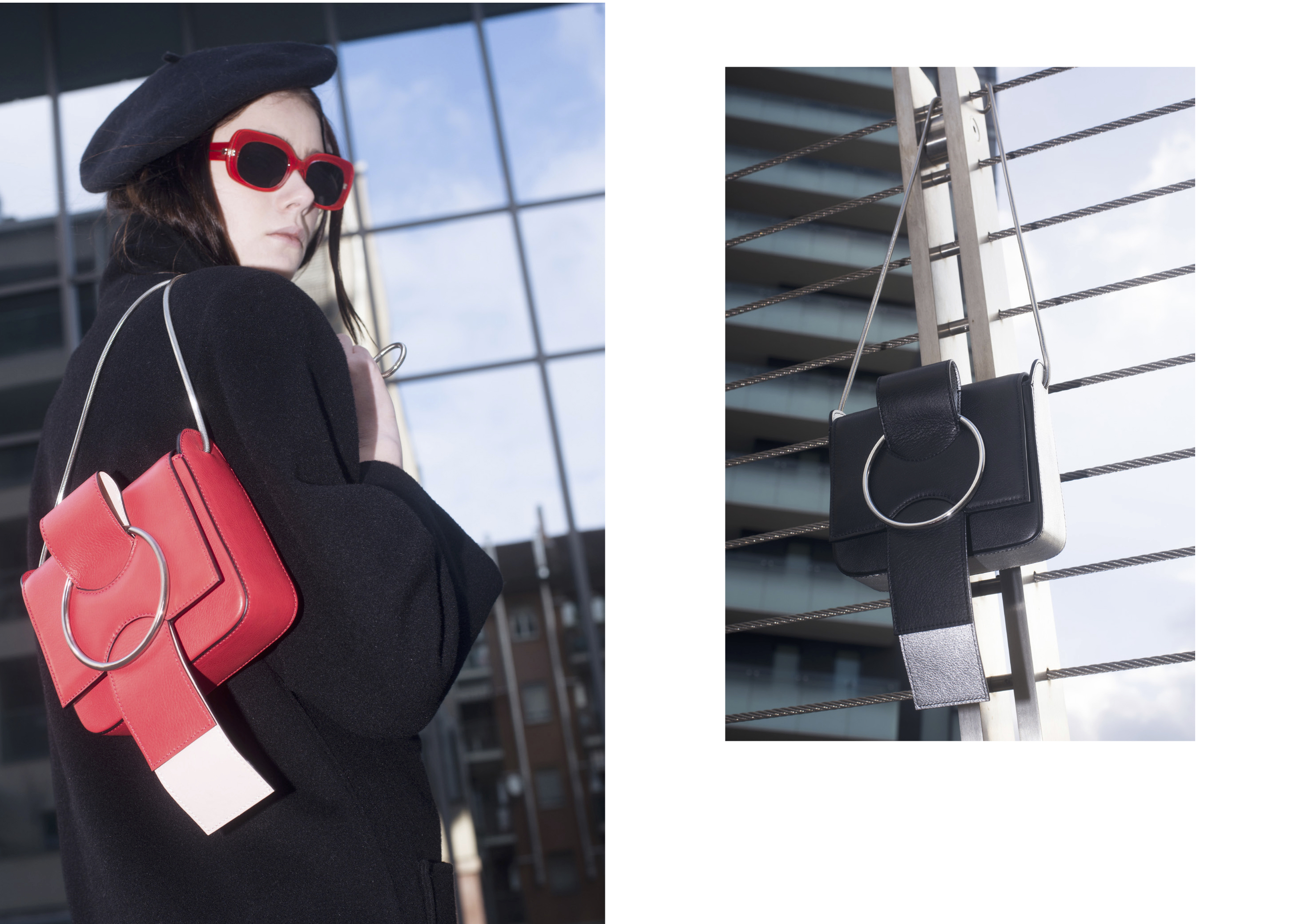 fw collection, ottonemilano handbag, ottonebag, ottonehandbag, ottonemilano bag, minimal handbag, sleek, cipria bag, pink bag, shoulder bag,cross body,red bag, black, silver bag, chain strap